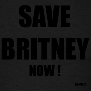 Black SAVE BRITNEY now by wam Hoodies - Men's T-Shirt