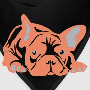 Black French Bulldog big T-Shirts - Bandana