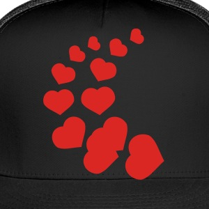 Black heart curve Underwear - Trucker Cap