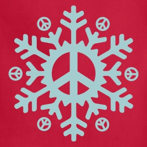 Peace Snowflake (vector)  - Adjustable Apron