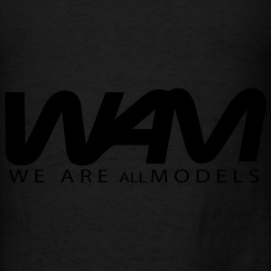 Black WAM We Are all Models Bags  - Men's T-Shirt