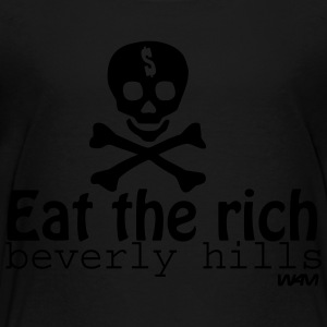 Black eat the rich by wam Kids Shirts - Toddler Premium T-Shirt