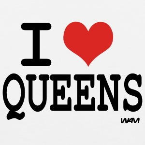 White i love queens by wam Buttons - Men's Premium Tank