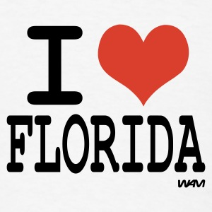 White i love florida by wam Buttons - Men's T-Shirt