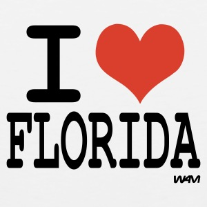 White i love florida by wam Buttons - Men's Premium Tank