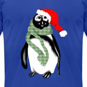 Christmas Lady Penquin - Men's T-Shirt by American Apparel