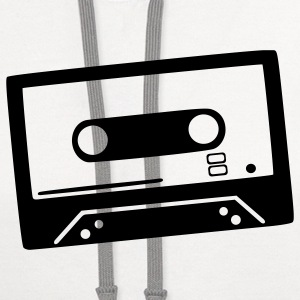 White Tape - DJ - Cassette T-Shirts - Contrast Hoodie