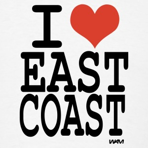 White i love east coast by wam Buttons - Men's T-Shirt