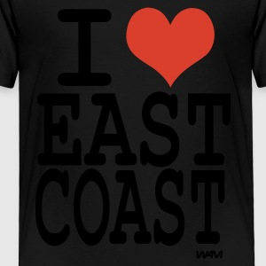 Black i love east coast by wam Kids Shirts - Toddler Premium T-Shirt