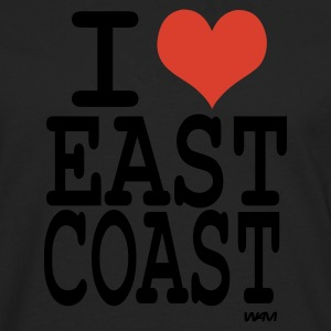 Black i love east coast by wam Kids Shirts - Men's Premium Long Sleeve T-Shirt