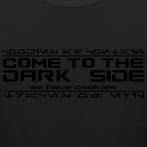 Black Come to the Dark Side, We Have Cookies T-Shirts - Men's Premium Tank