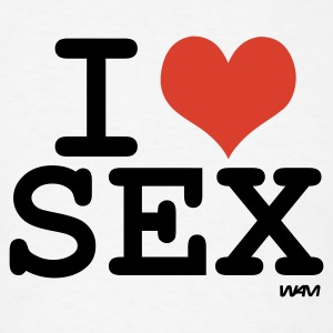White i love sex by wam Hooded Sweatshirts - Men's T-Shirt