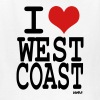 White i love west coast by wam Kids Shirts - Kids' T-Shirt