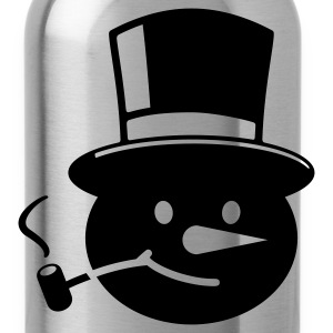 Black Frosty the Snowman T-Shirts - Water Bottle
