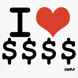 White i love dollars by wam Hoodies - Men's Premium Long Sleeve T-Shirt