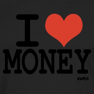 Black i love money by wam Tanks - Men's Premium Long Sleeve T-Shirt