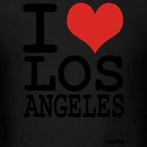 Black iI love los angeles by wam Hoodies - Men's T-Shirt