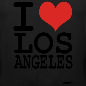 Black iI love los angeles by wam Hoodies - Men's Premium Tank