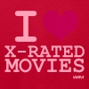 Red i love xmovies by wam T-Shirts - Men's T-Shirt by American Apparel