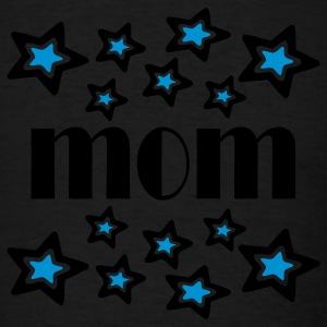 Black Mom With Double Stars And Cutouts Long sleeve shirts - Men's T-Shirt