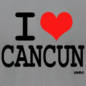 Gray i love cancun by wam Long sleeve shirts - Men's T-Shirt by American Apparel