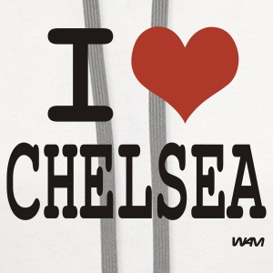 White i love Chelsea by wam  Tanks - Contrast Hoodie