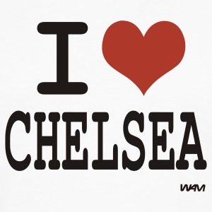 White i love Chelsea by wam  Tanks - Men's Premium Long Sleeve T-Shirt