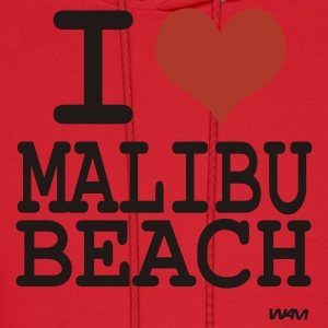 Aqua i love malibu by wam T-Shirts - Men's Hoodie