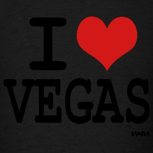 Black I love vegas by wam Hoodies - Men's T-Shirt