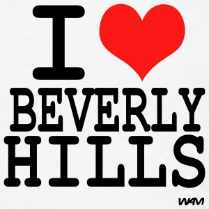 White i love beverly hills by wam Buttons - Men's T-Shirt