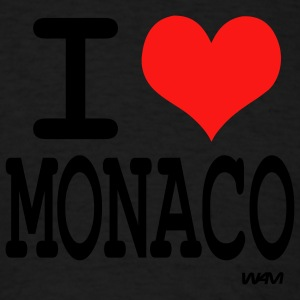 Black i love monaco by wam Tanks - Men's T-Shirt