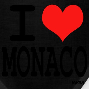 Black i love monaco by wam Tanks - Bandana