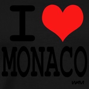 Black i love monaco by wam Tanks - Men's Premium T-Shirt