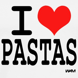 White i love pastas by wam Tanks - Men's Premium T-Shirt