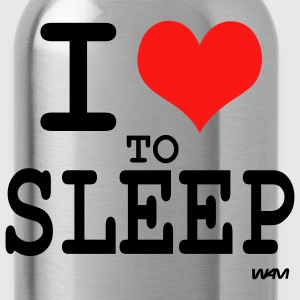 Black i love to sleep by wam T-Shirts - Water Bottle