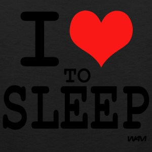 Black i love to sleep by wam T-Shirts - Men's Premium Tank