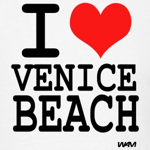 White i love venice beach by wam Hoodies - Men's T-Shirt
