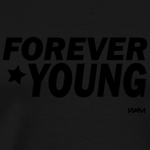 Black for ever young by wam Hooded Sweatshirts - Men's Premium T-Shirt