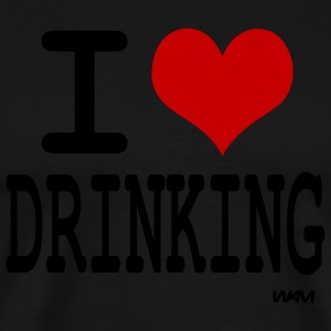 Black i love drinking by wam Long sleeve shirts - Men's Premium T-Shirt