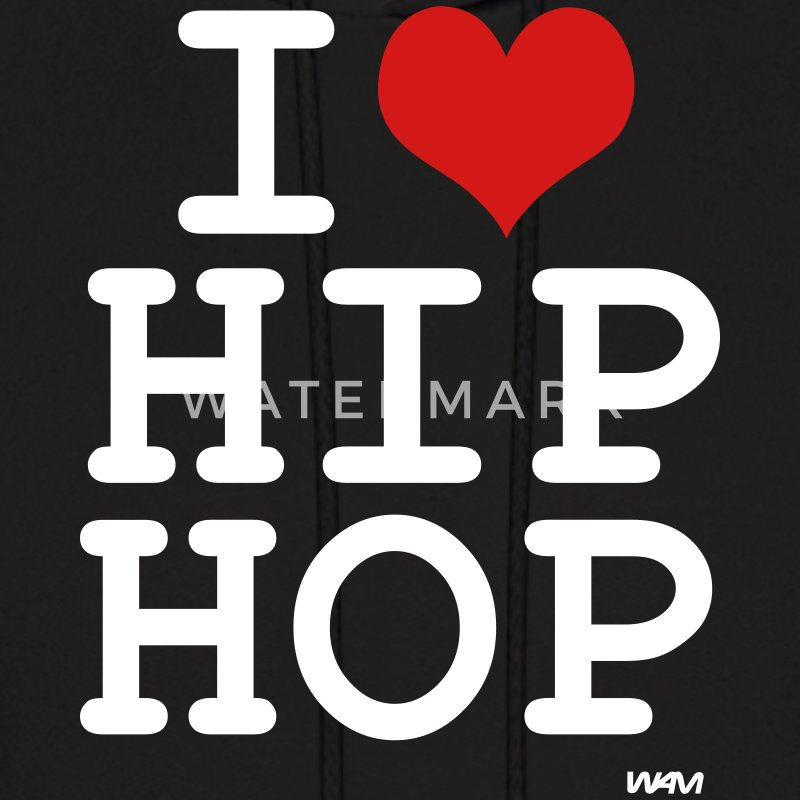 Black i love hip hop by wam Hoodies - Men's Hoodie