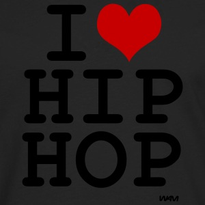 Black i love hip hop by wam Hoodies - Men's Premium Long Sleeve T-Shirt