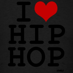 Black i love hip hop by wam Tanks - Men's T-Shirt