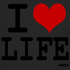 Black i love life by wam Tanks - Men's Premium Long Sleeve T-Shirt