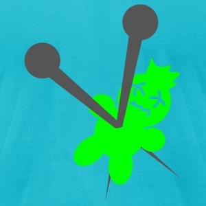 Turquoise Voodoo T-Shirts - Men's T-Shirt by American Apparel