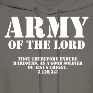 Olive Army of the Lord, Christian T-Shirts with Bible Ve T-Shirts - Men's Hoodie