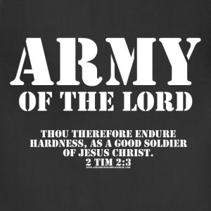 Olive Army of the Lord, Christian T-Shirts with Bible Ve T-Shirts - Adjustable Apron