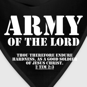 Olive Army of the Lord, Christian T-Shirts with Bible Ve T-Shirts - Bandana