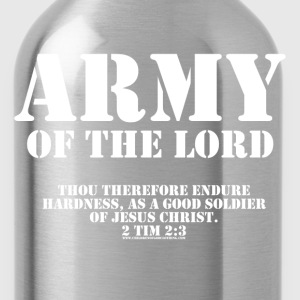 Olive Army of the Lord, Christian T-Shirts with Bible Ve T-Shirts - Water Bottle