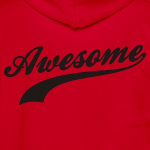 Red Awesome Women's T-shirts - Unisex Fleece Zip Hoodie by American Apparel