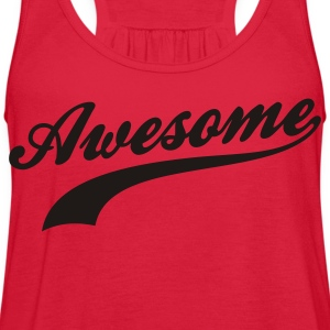 Red Awesome Women's T-shirts - Women's Flowy Tank Top by Bella